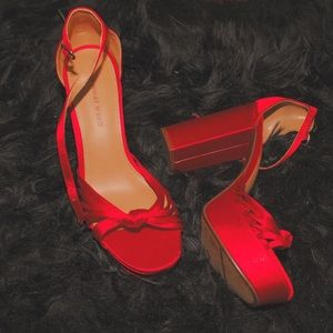 Red Who What Wear Heels